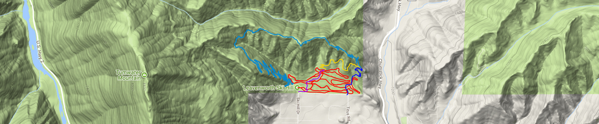 leavenworth ski hill map